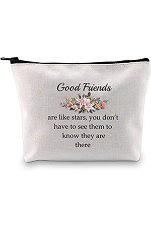 """G2TUP Kosmetiktasche für beste Freunde, mit Reißverschluss, mit Aufschrift """"Good Friends Are Like Stars"""""""