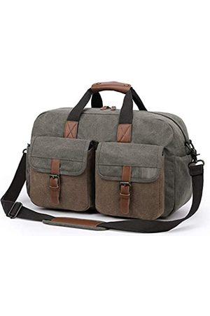 TAK Duffle Bag Canvas Reisetasche mit Schultergurt für Fitnessstudio, Reisen, Arbeit, Camping, Outdoor-Sport