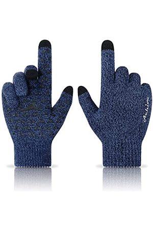 Achiou Damen Handschuhe - Winter-Strickhandschuhe, Touchscreen-Funktion, warm, Thermo-Futter, elastische Manschette, Texting, rutschfest