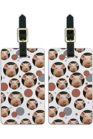 Graphics and More Graphics & More Luggage Suitcase Carry-on Id Tags-Animals-Little Pig Piggy