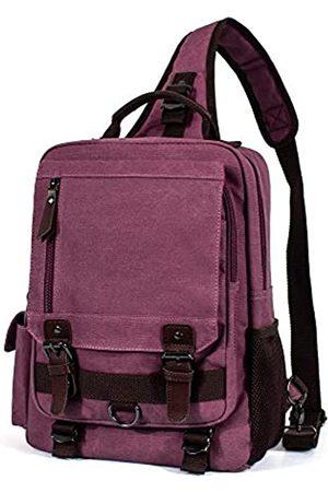 H HIKKER-LINK Damen Rucksäcke - Canvas Messenger Bag Retro Sling Rucksack Crossbody Satchel