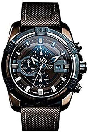 B360 Unisex Analog Quarz Uhr mit Verschiedene Materialien Armband B Class ONE Brown IP