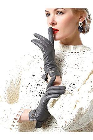 NappaNovum Damen Italienische Lederhandschuhe Lammfell Winter Komfort Handschuhe (Touchscreen oder ohne Touchscreen) - - X-Large