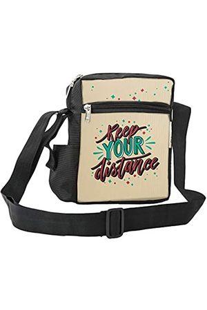 LIMIT Fashion Store Keep Your Distance Style Crossbody Messenger Sling Bag Travel Office Business One Side Schultertasche für Männer Frauen (25 x 18 x 7