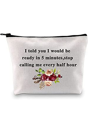 """PXTIDY Make-up-Tasche mit lustigem Spruch """"I Told You I Would Be Ready In 5 Minutes Stop Calling Me Every Half Hour"""""""