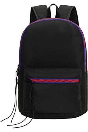 IN.RHAN Unisex Rucksack mit Reißverschluss, klassischer wasserdichter Reise- und Schulrucksack