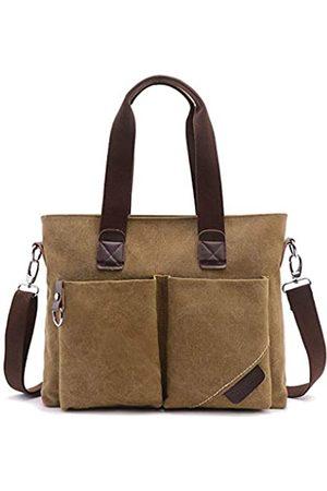 LassZone Herren Retro-Handtasche aus Segeltuch, waschbar, modisch, groß