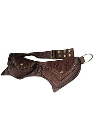 vintage crafts Fannypack for Men Women Cotton Fancy Waistbag Travel Hiking Utility Belt Bumbag (Brown)
