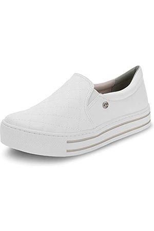 VIA MARTE Damen Slip on Sneaker Plateau Gepolsterte Innensohle Comfort, Wei�