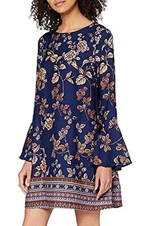 Mela Damen Border Print Tunic Dress Kleid