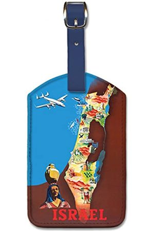 Pacifica Island Art Leatherette Luggage Baggage Tag - Israel by Renluc