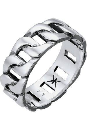 Kuzzoi Ring Herren Chunky Chain Look Kette Gllieder 925 in , für Herren