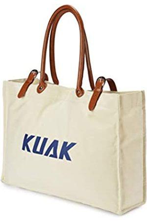 KUAK Strandtasche, extra große Canvas-Strandtasche mit 100% wasserdichter Handyhülle, Reißverschluss oben, Baumwollseilgriffen, zwei elastische Außentaschen, Schlüsselhalter, Flaschenöffner