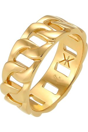 Kuzzoi Ring Herren Chunky Chain Look Kette Gllieder 925 Silber in , für Herren