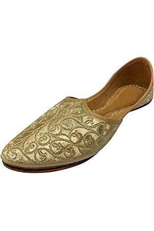 Step N Style Herren Khussa-Schuhe Maharaja Look Mojari Punjabi Jutti Leder