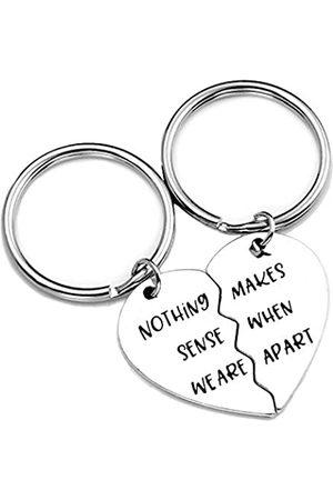 PLITI Schlüsselanhänger mit Langer Distanz, Geschenk für Paare, Freunde, Puzzle, Aufschrift Nothing Sense We Makes When Apart Schlüsselanhänger, Valentinstag, Hochzeit