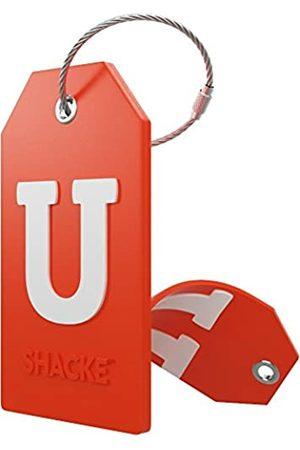 Shacke Initiale Gepäckanhänger mit Vollsichtschutznd Edelstahlschlaufe - Buchstabe