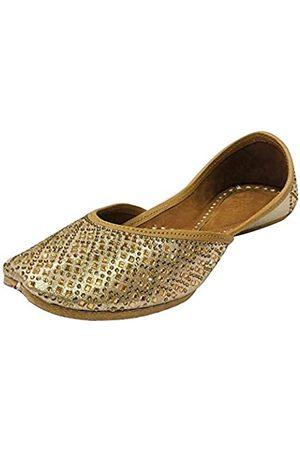 Step N Style Damen Siroski Punjabi Jutti für ethnische handgefertigte Mojari Designer Jutti
