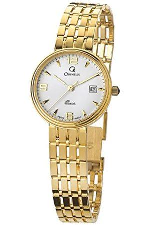 ORPHELIA Damen Uhren - DamenAnalogQuarzUhrmitGelbgoldArmbandMON-7078/1