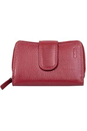 Mika 80022504 - Damengeldbörse aus Echt Leder, Portemonnaie im Hochformat, Geldbeutel mit 9 Kreditkartenfächer, 2 Scheinfächer und doppeltes Münzfach, Brieftasche in, ca. 13,5 x 9,5 x 3