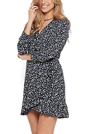ONLY Female Kleid Wickel Volant 34Night Sky