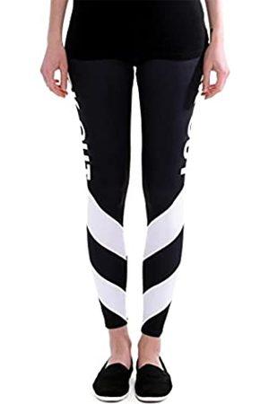 cosey Damen bunte bedruckte Yoga und Fitness Leggings