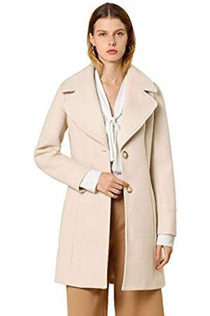Allegra K Damen Langarm Umlegekragen Einreiher Trenchcoat Mantel XL