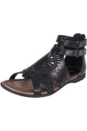 Earth Breaker Women's Sandal Black Soft Burnished Leather 6 M US