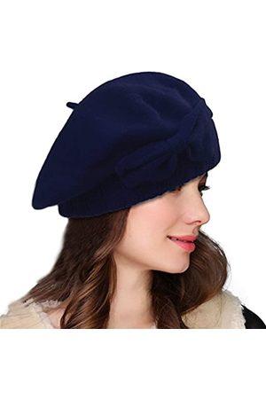 Lawliet Loretta Damen Baskenmütze A481 aus 100 % Wolle - Blau - Einheitsgröße