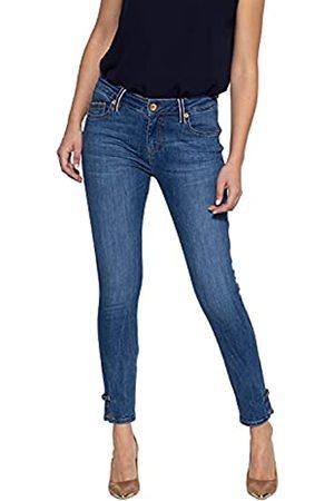 ATT Damen Slim Fit Jeans Mit Farblichem Kontrast Used Leoni