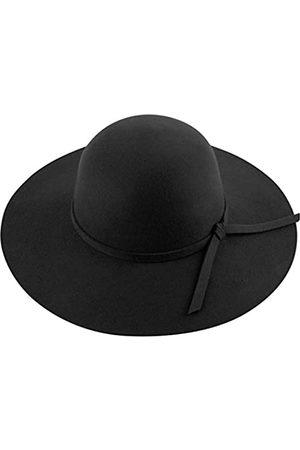 Lanzom Fedora-Hut für Damen, Retro-Stil, breite Krempe, Panama-Hut, Gürtel