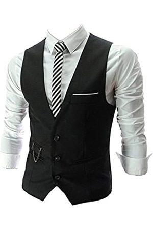 PXS Weste V-Ausschnitt Ärmellos Slim Fit Jacke Herren Business Weste - - Medium