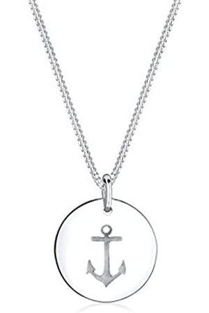 Elli Damen Schmuck Echtschmuck Halskette Kette Anhänger Anker Sterling 925 Länge 45 cm