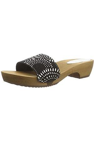 Sanita Damen Dine Round Flex Sandal Pantoletten, (Black 2)