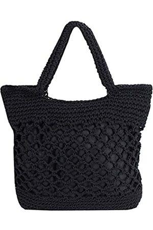Adela Boutique Adela Damen Mädchen Strohtasche geflochten Handtasche Strand Häkeltasche Reise große Kapazität Tragetasche