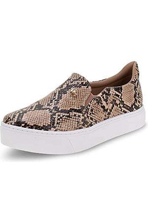 VIA MARTE Damen Slip-on-Sneaker Plateau gepolsterte Innensohle Komfort Tierdruck Castor Braun, (Sneak)