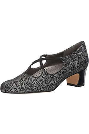 FrenchTrotters Women's Jamie Dress Pump, Black/Silver 23