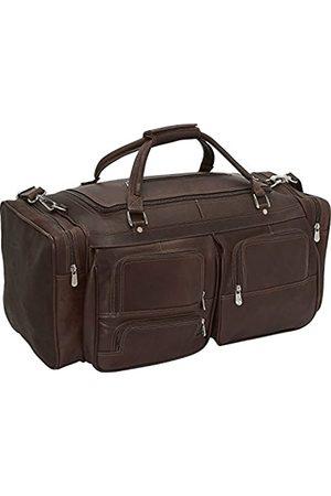 Piel Reisetasche 60,96 cm mit Fächern in Schokobraun