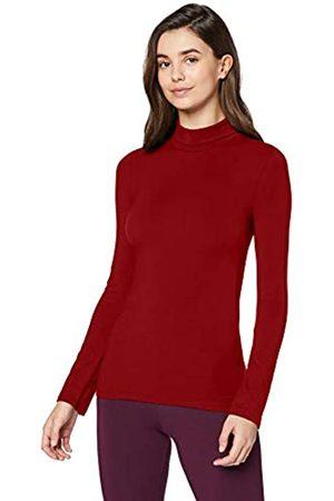 IRIS & LILLY Amazon-Marke: Damen dünnes, wärmendes Thermounterwäsche Oberteil mit Rollkragen, (Sundried Tomato), XS