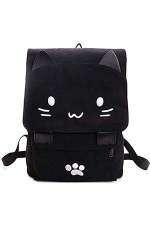 e-youth Rucksack mit niedlichem Katzenmotiv, leicht