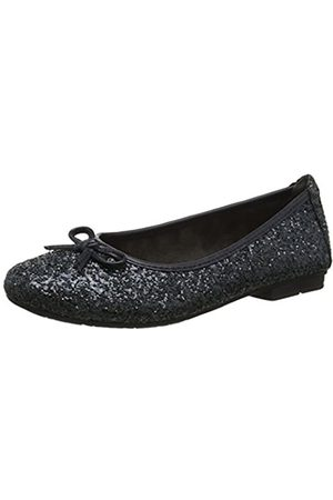Soft Line Damen 22163-21 Geschlossene Ballerinas, (Navy Glitter 898)