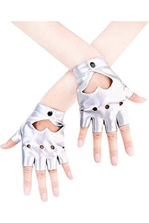 JISEN Damen-Handschuhe, Punk, Halbfinger