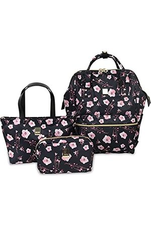 J WORLD NEW YORK Posy 3 Pc Set (Backpack With Tote & Cosmetic Pouch) Rucksack, 16 cm