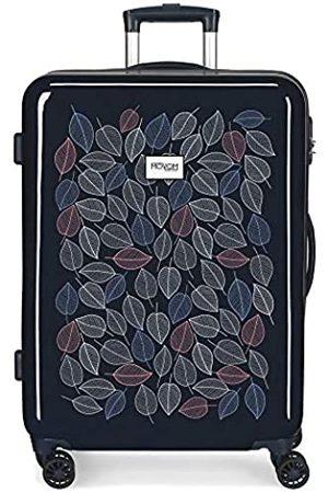 MOVOM Leaves Mittlerer Koffer 48x68x26 cms Hartschalen ABS Kombinationsschloss 70L 3