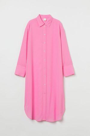 H&M Blusenkleid aus Jacquardstoff