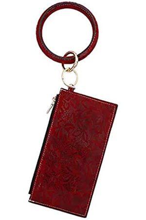Auony Damen Clutch-Geldbörse aus Leder
