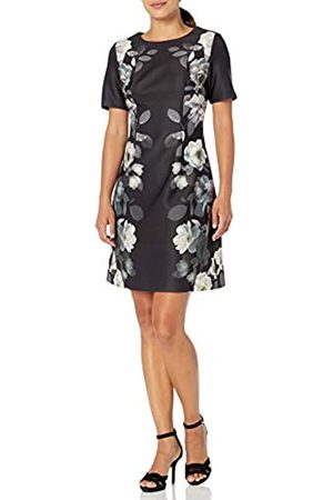 Adrianna Papell Damen Shadow Roses Printed A Line Kleid
