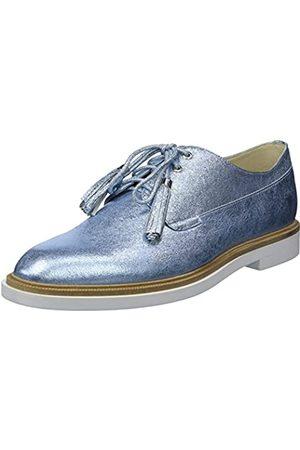 Kenneth Cole New York Women's Annie Menswear Styled Oxford Flat, Blue