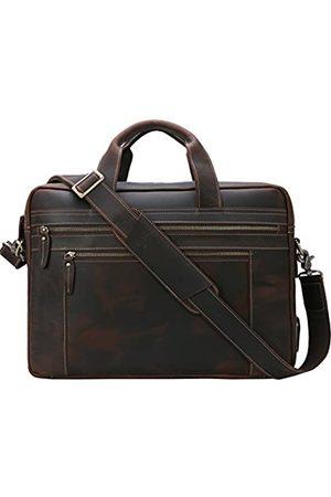 Iswee Echtes Leder Laptop Messenger-Tasche Business Aktentasche TRAVEL Duffel Gepäck Tasche