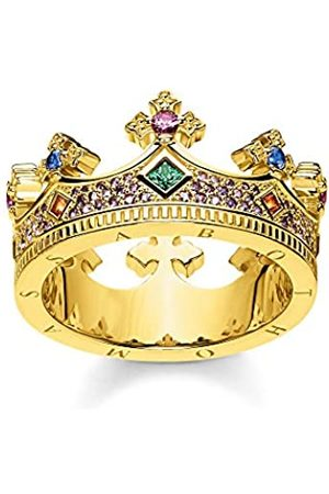 Thomas Sabo Damen-Ring Krone Gold 925 Sterlingsilber gelbgold vergoldet TR2265-973-7-48